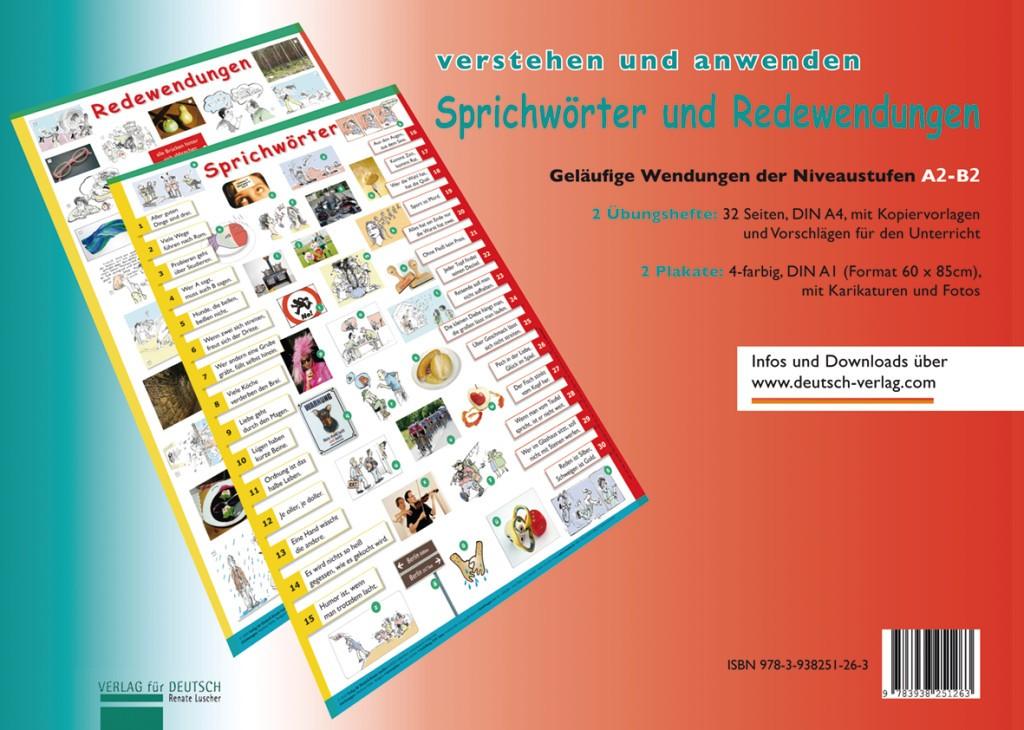 Plakate Sprichwörter und Redewendungen