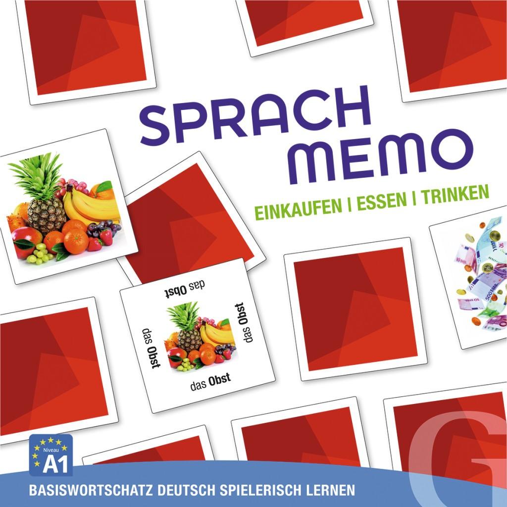 Einkaufen, Essen, Trinken, Sprachspiel (gra memory)
