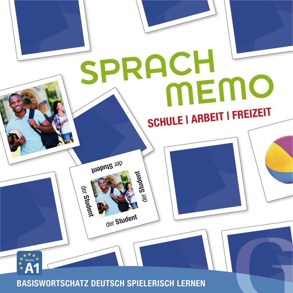 Schule, Arbeit, Freizeit, Sprachspiel (gra memory)